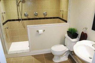 Туалет и душ в бейсменте