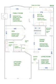 План комнат на первом этаже