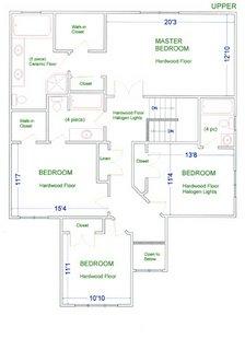 План комнат на втором этаже