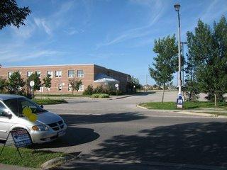 A school is across the street