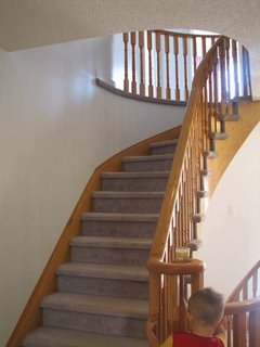 Real estate property in Canada: stairs